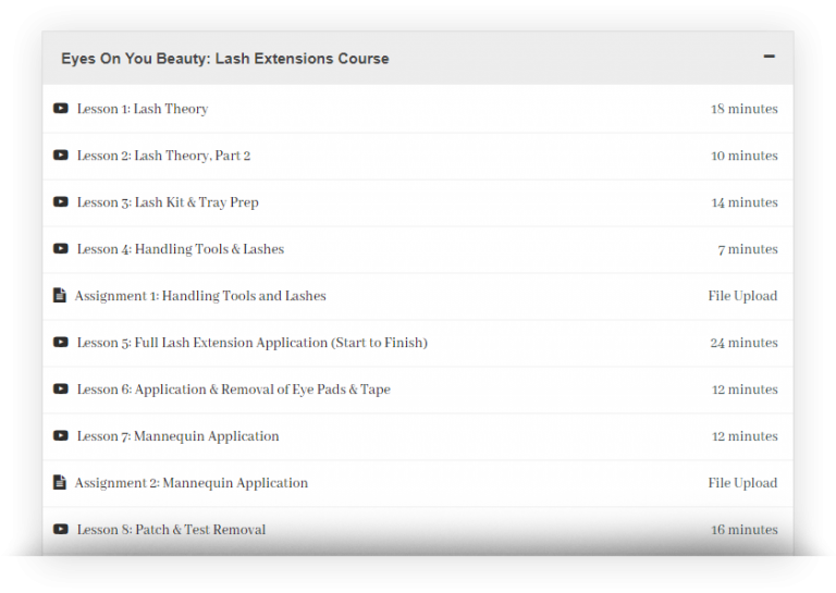 Online Training Courses | Hair + Eyelash Extensions | Eyes ...